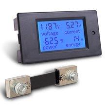 MICTUNING DC Цифровой Многофункциональный Вольтметр Амперметр 6,5-100 в 100A 4 IN1 автомобиля напряжение тестер Amp Вт измеритель kwh с 100A шунта