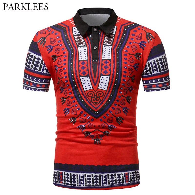 Men's Polo Shirt Slim Fit Short Sleeve Polo Homme 2018 Fashion African Dashiki Male Polos Shirt Casual Brand Plus Size Poloshirt