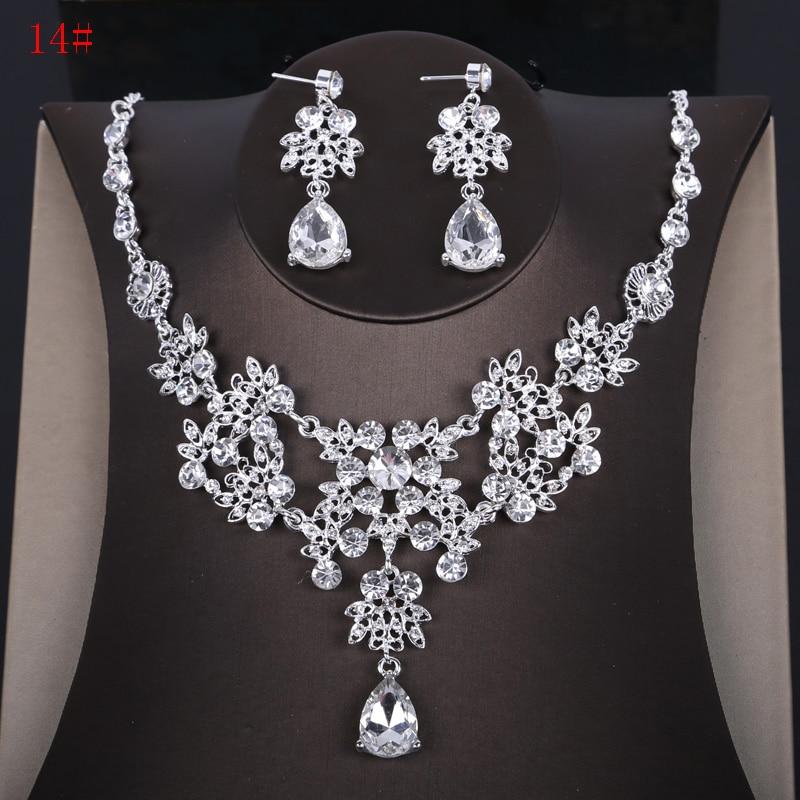 Alexzendra New Wedding Jewelry Flower Shape Classic Bridal Necklace Luxury Crystal Rhinestones Jewelry for Women