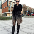 Hot Luxury 2017 New Winter lady Fashion Real Genuine Raccoon Fur Vest Women Natural Fur Coats Gilets Women Fur Outerwear CW2354