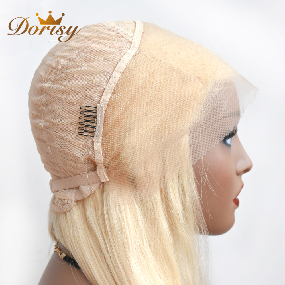 Dorisy 613 Honey Blonde Lace Front Wig Brazilian Straight 13X4 Lace Front Human Hair Wigs 613# Color Wig Remy Hair For Women