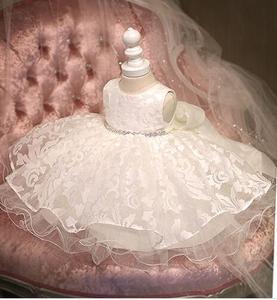 Glizt, vestido nuevo con bonita Flor de diamante para niña, vestido de tul blanco para desfile de fiestas para niñas pequeñas, vestido de graduación, boda, 1 año de cumpleaños