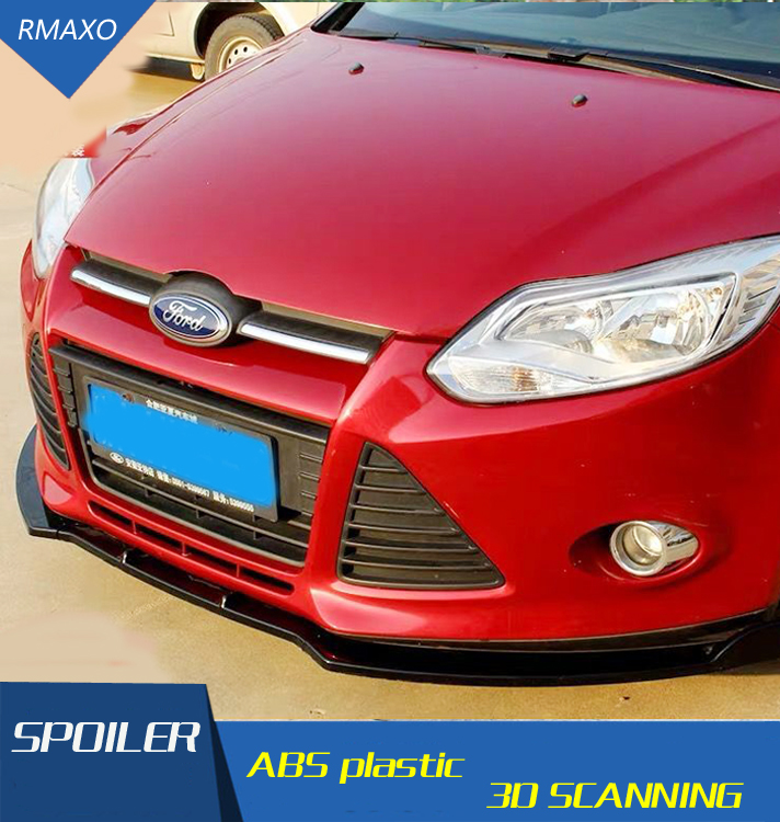 For Ford Focus Body kit spoiler 2012 2014  For Ford Focus ABS Rear lip rear spoiler front Bumper Diffuser Bumpers Protector|Spoilers & Wings| |  - title=