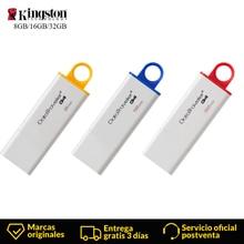 Kingston флеш-накопитель usb 3,0 флэш-накопитель 32 ГБ 8 ГБ оперативной памяти, 16 Гб встроенной памяти, флеш-накопитель DataTraveler G4 flash Memory stick Ёмкость Пластик мини флеш-накопитель usb флешки