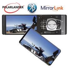 1 din 4,1 дюймов автомобиля радио MP4 плееры Аудио Видео Bluetooth USB TF FM с сзади камера Aux в зеркало ссылка только для Android стерео