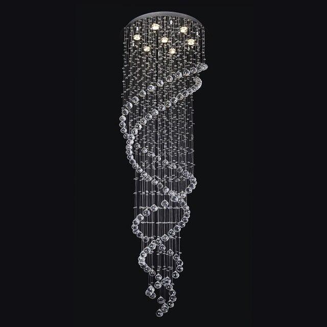 Holigoo Moderne Lang Spiral Kristall Kronleuchter Beleuchtung Wohnzimmer Leuchte Fr Treppe Stair Vitrine Lampe Schlafzimmer Hotel