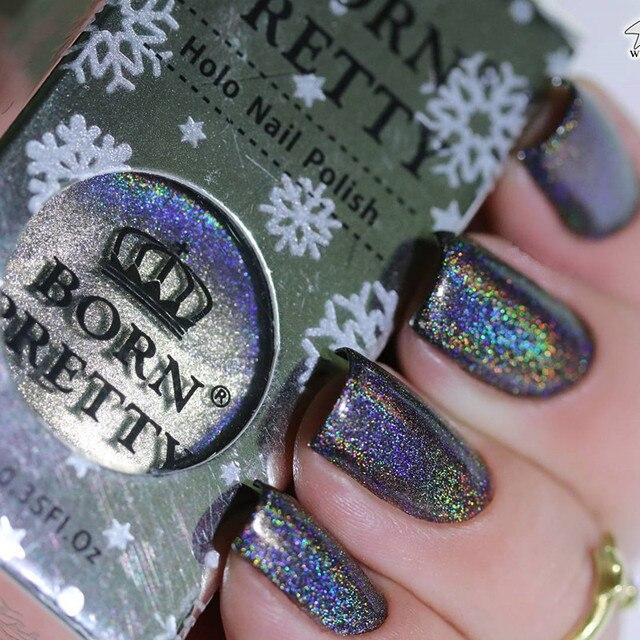 Born Pretty High Ings Holographic Nail Polish 10ml Holo Glitter Super Shine Manicure Vanish