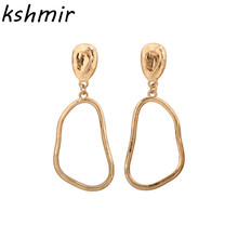 Fashion accessories personality irregular alloy hollow stud earrings accessories Popular earrings beautiful earrings