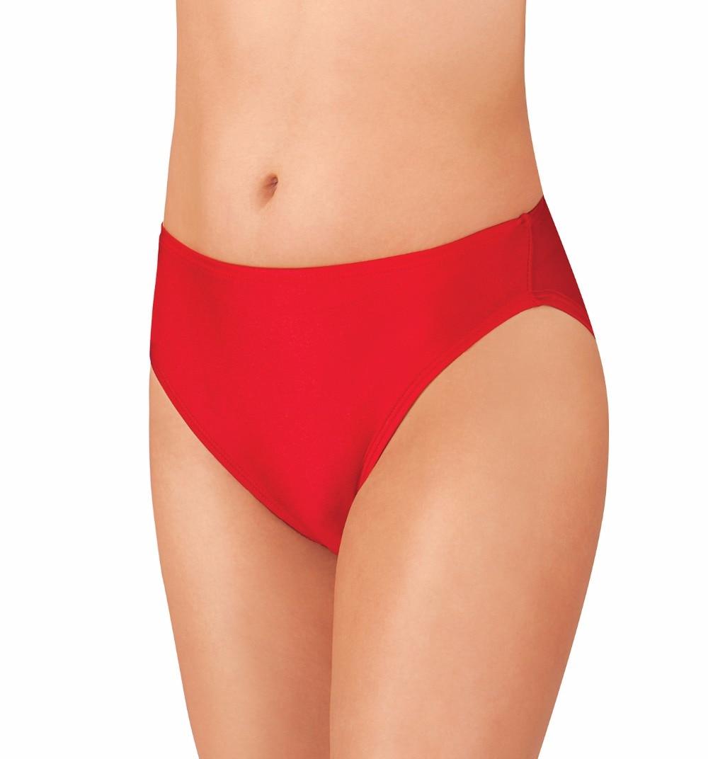 Adult Nylon Jazz High Leg Cut Dance Briefs Women Black Lycra Spandex Booty Shorts for Dance Undies Ballet Workout Underwear