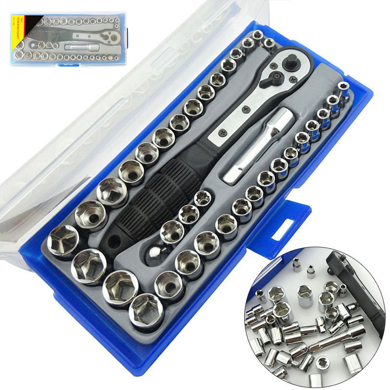 FGHGF 38Pcs 3/8'' 4-15mm Inch Metric Set Ratchet Driver Socket torque Wrench Tool llaveros 46pcs 1 4 inch high quality socket set car repair tool ratchet set torque wrench combination bit a set of keys chrome vanadium
