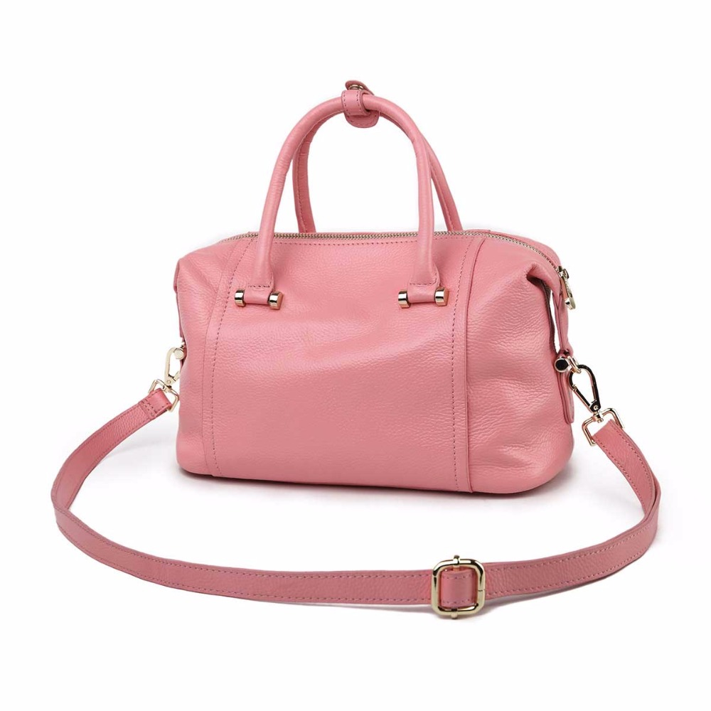 2018 new classic Boston leather handbags first layer hand shoulder bag hot ladies genuine shoulder bag womens Bolsos Mujer
