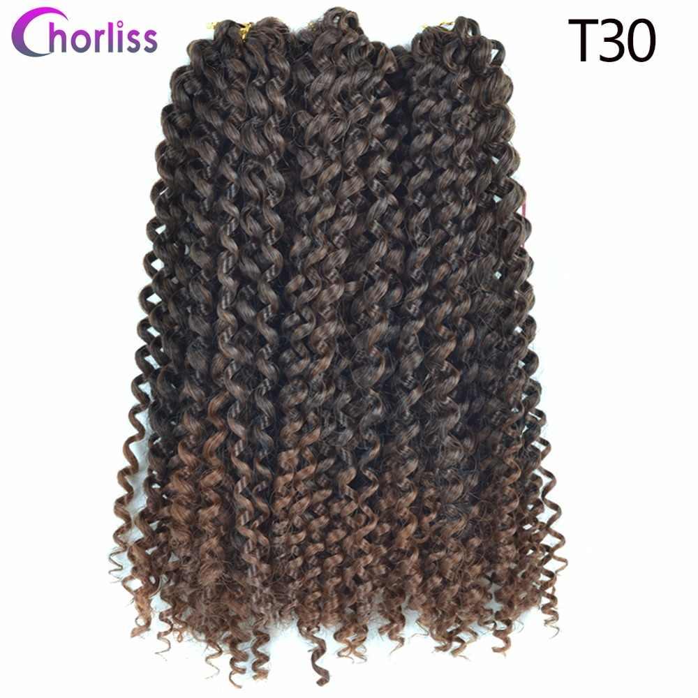 Chorliss, синтетические волосы для наращивания, Джерри, кудрявые волосы, вязанные крючком, косички, 3 шт., Freetress Twist, афро, 3 шт./лот, тбуг, блонд, коричневый, черный