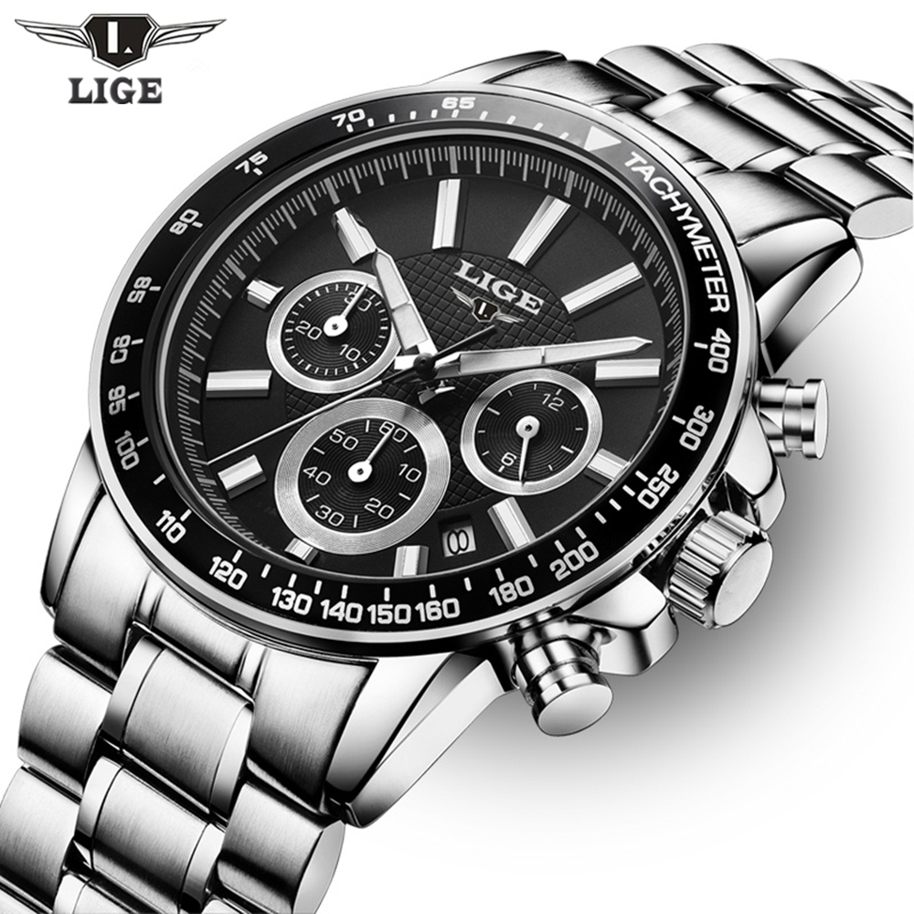 2017 Top Brand Luxury LIGE Fashion Chronograph Sport Mens Watches Reloj Hombre Military Quartz Watch Clock Men Relogio Masculino men watch top luxury brand lige men s quartz watches fashion casual mesh belt dress business military male clock reloj hombre