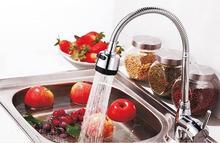 Universal 360 вращения регулируемый латунь + нержавеющая сталь + абс кухня кран холодная и вода кухня миксер затычка