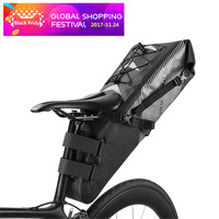 ROCKBROS Waterproof Bike Bicycle Saddle Bag Reflective Big Capacity Foldable Tail Rear Bag Cycling MTB Trunk