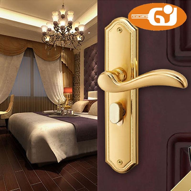 Hot sell mortise lock real golden lock door locks roomers консоль