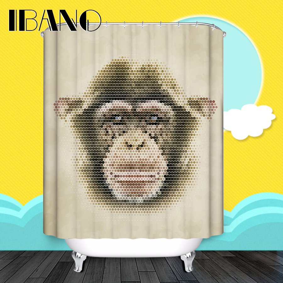 Monkey Shower Curtain Pattern Bath Custom Curtains Waterproof Polyester Fabric For Bathroom In From Home Garden On