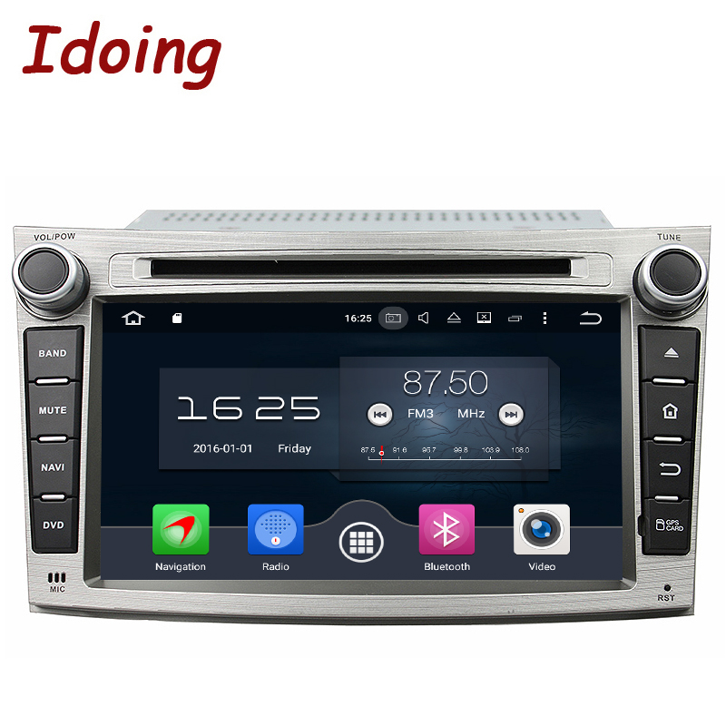 Idoing 7 Android 6 0 Car DVD For Subaru Legacy Outback 2 Din 8 Core Steering