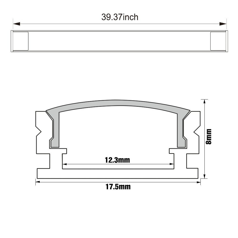 10pcs 1m Aluminum Channel Case For Led Strip Bar Installation Rope Wiring Diagram Profile With Cover End Caps Mounting Clips In Lights From Lighting