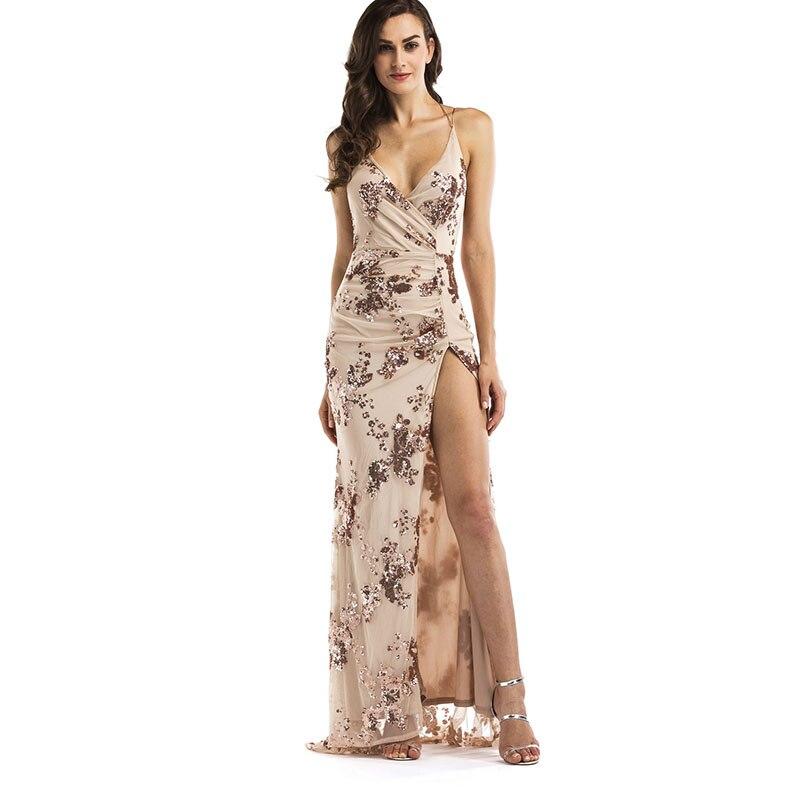 MUXU long black sequin dress sexy moda feminina backless vestidos suspender  dress long summer dress clothes women robe ete robes cd0236566622