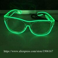 10 Pcs Led Luminous Party Glasses 6 Colors EL Wire Light Up DJ Glasses Flashing Grand