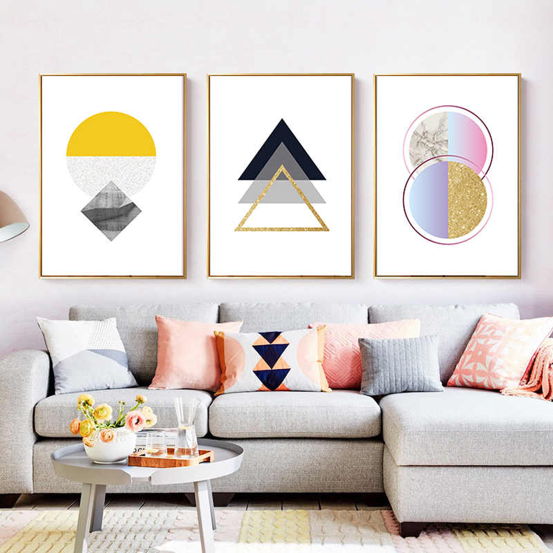 Modern Fashion Abstract Magic Geometry Canvas Paintings Wall Art Picture Posters Prints for Living Room Girl's  Home Decoration