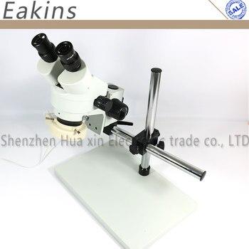 7 ~ 45X Непрерывный зум Бинокулярного стерео микроскоп + Большой Штатив Универсальный кронштейн + 56 СВЕТОДИОДНОЙ подсветкой для телефона плата тестирования