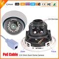 Cctv-top настоящее 48 В PoE IP камера 720 P / 960 P 1.0MP сетевая камера IP PoE варифокальный 2.8 мм - 12 мм объектив ONVIF PoE кабель