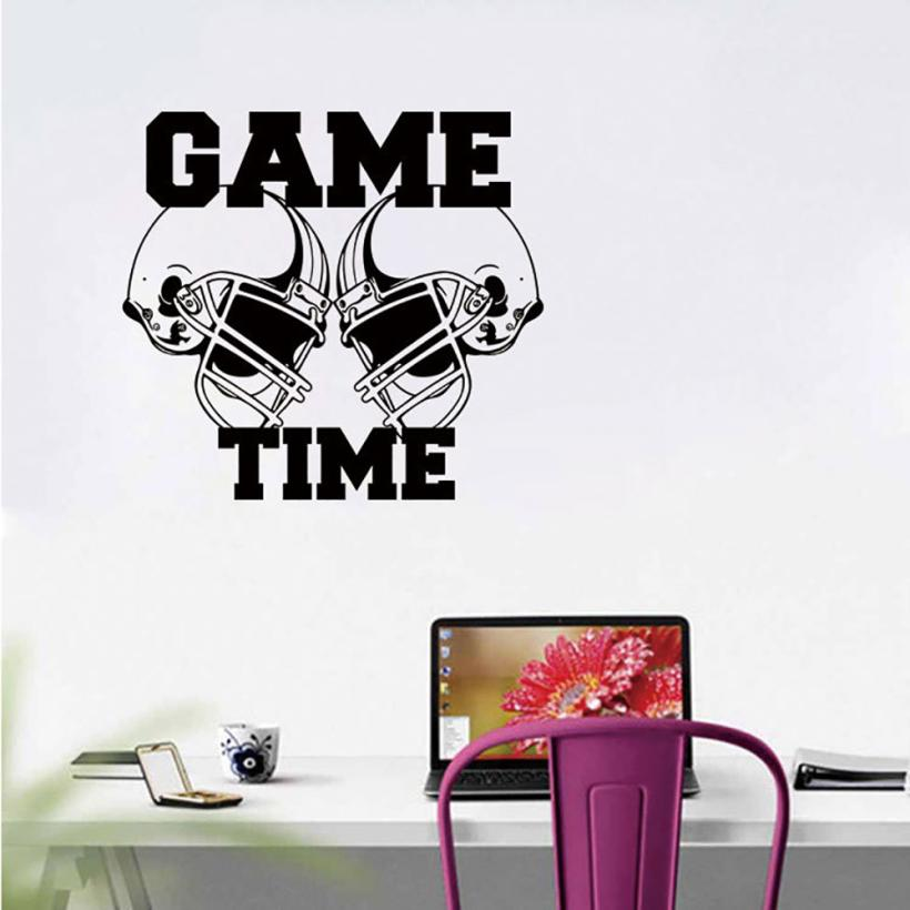 American Football Helmets GameTime Sports Wall Sticker Vinyl Art Decor Decal Creativity Bedroom Living room Wall