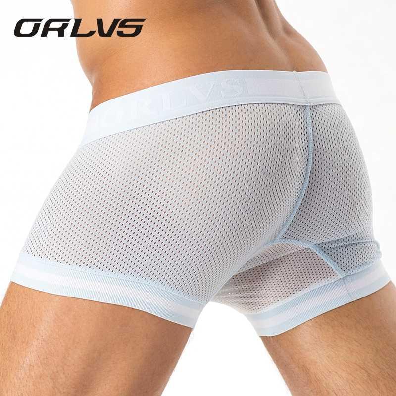 bd23bb24f10e 2018 Brand Penis Sexy Boxer Mesh Men Underwear U Pouch Sexy Underpants  Cuecas Cotton Pants Trunks