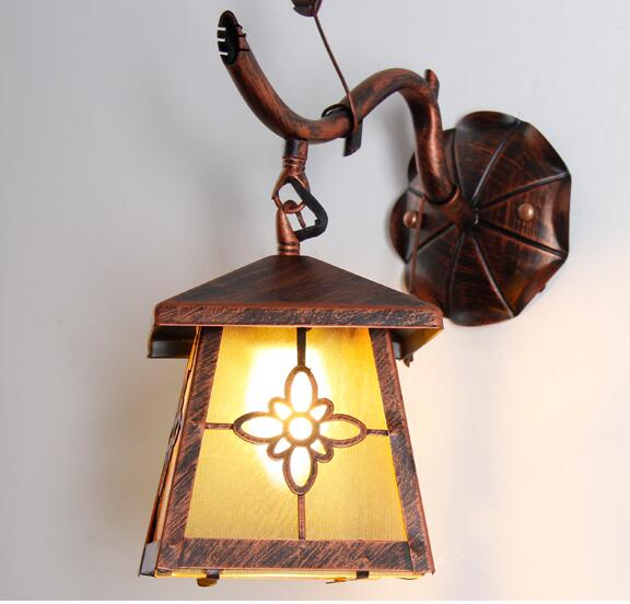 Iron village dining room wall lamps retro restaurant in front of the balcony aisle bedroom bedside lamp wall lamp FG236