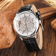 WINNER Skeleton Watch Men Hand Winding Mechanical Watch Leather Clock Male Top Luxury Brand Men's Wrist Watch Relogio Masculino стоимость