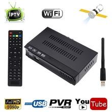 DVB-S2 Digital Satellite Receiver IPTV m3u Combo HD ac3 TV Tuner Media Player Support WIFI IKS CS Biss Power CCCAM NewCam PVR
