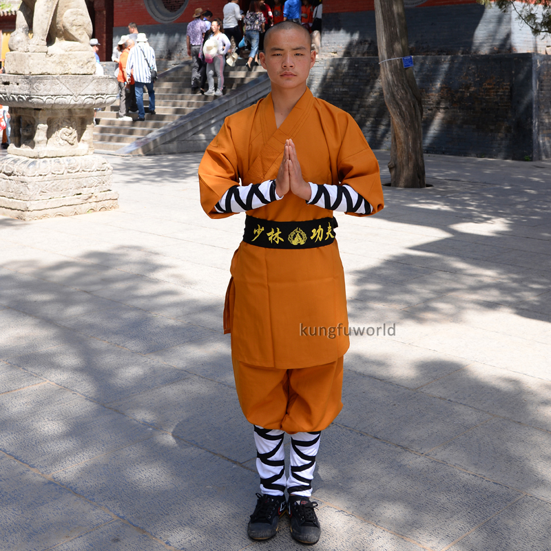 Beautiful Brown Shaolin Monk Daily Training Wushu Tai Chi Suit Martial arts Kung fu Wing Chun Karate Uniform new pure linen retro men s wing chun kung fu long robe long trench ip man robes windbreaker traditional chinese dust coat