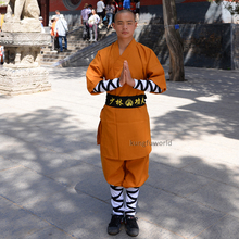 Lovely Brown Shaolin Monk Each day Coaching Wushu Tai Chi Swimsuit Martial arts Kung fu Wing Chun Karate Uniform