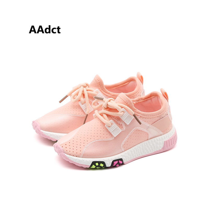 AAdct 2018 running sports comfortable kids shoes Mesh breathing girls shoes sneakers Brand High-quality children shoes