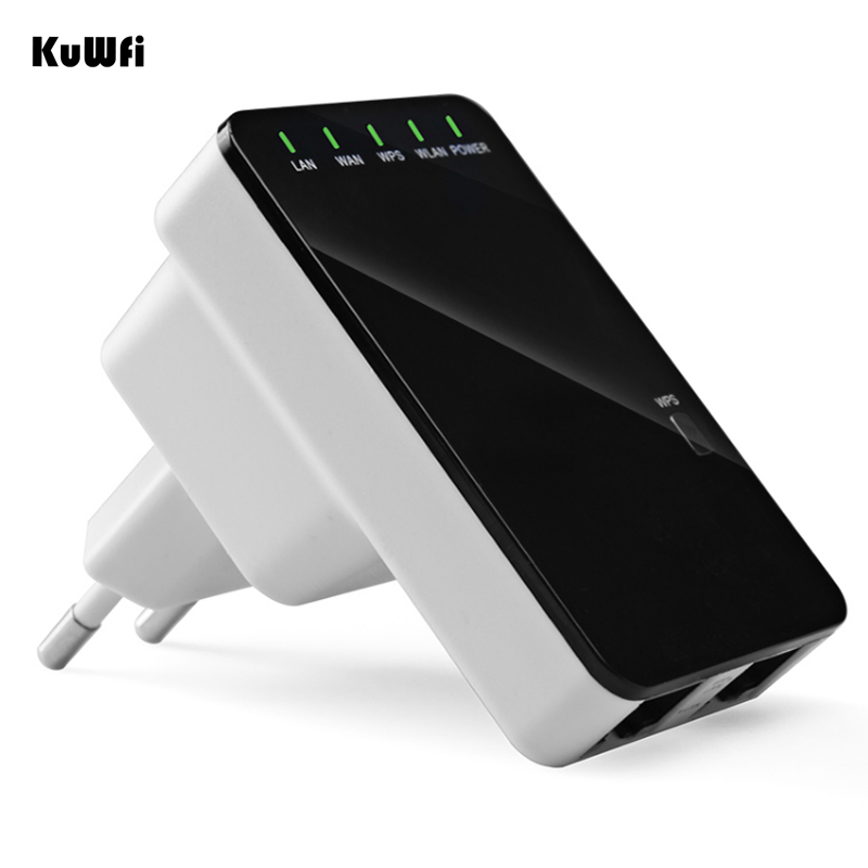 300Mbps Wireless N Mini Router Wifi Signal Extender WPS Supports AP Router Client Bridge and Repeater modes-in Wireless Routers from Computer & Office
