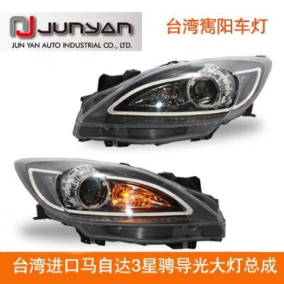 mazda 3  led head lighs/ head lamps/ angel eyes for  2009 -2013 / made  in taiwan/ beautiful/ 1 year warranty