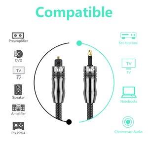 Image 5 - EMK الصوت الرقمي Toslink إلى Toslink كابل صغير 3.5 مللي متر SPDIF كابل ضوئي 3.5 إلى الصوت البصرية كابل محول للحاسوب النقال 1 متر 10 متر