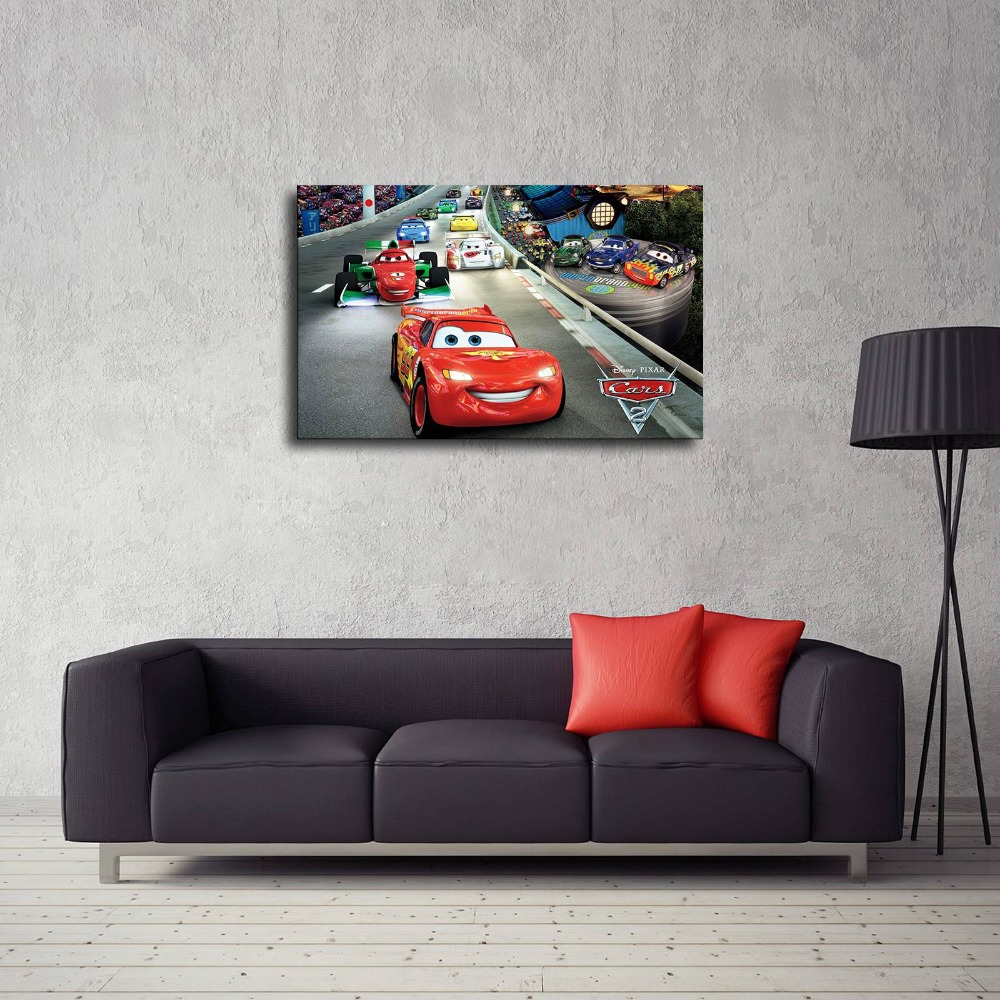 Sr106035- Lightning Mcqueen Hd Canvas Print Home Living