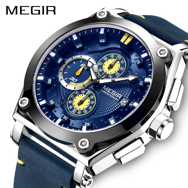 MEGIR famous brand men watches Fashion & Casual luxury designer watch Chronograph Sport Wrist Watch Men Clock Relogio Masculino цена