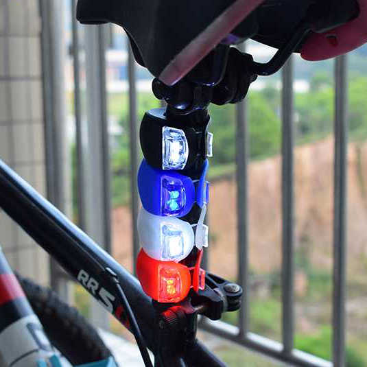 LED Silicon Bicycle Headlight Light Mountain Bike Outdoor Cycling Tool US Front