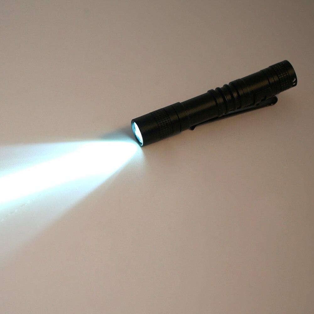Portable Multifunction LED Flashlight Pen Shape Pocket Clip Clip Type Flashlight Outdoor Cycling Hiking Night Lamp