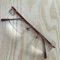 Fashion New Style Brand Alloy Men Women Optical Eyewear Rimless Frames Glasses Spectacles Myopia Glasses Frame
