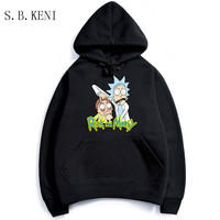 2018 Men Woman Hip Hop Cool Rick Morty Hoodie Fashion Brand Clothing Character Sweatshirts Men Pullover