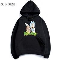 2018 Men Woman Hip Hop Cool Rick Morty Hoodie Fashion Brand Clothing Character Sweatshirts Men Pullover
