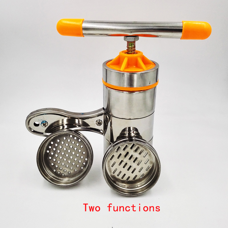 Two Functions Manual Noodle Maker Kitchen Pasta Spaghetti Press pates Machine Vegetable Fruit Juicer Pressing Machine