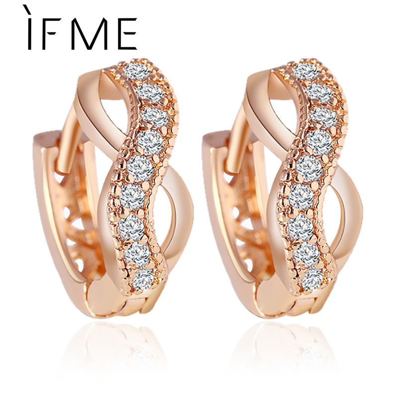 IF ME New Design Gold Color Austrian Crystal Earrings Jewelry ...