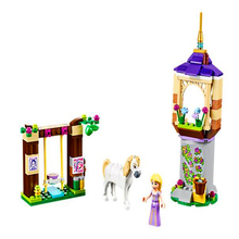 145pcs Girls Princess Series Rapunzel Castle Gardens Building Blocks Bricks Toys For Children Friends