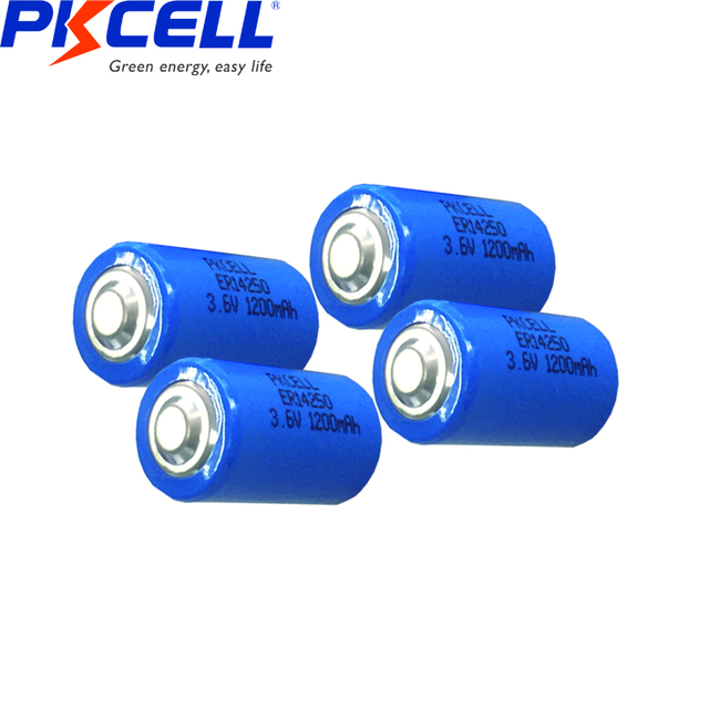 10PCS PKCELL 1/2 AA er 14250 battery 3.6v 1200MAH lithium batteries replace for LS14250 LS 14250 primary battery for camera  4
